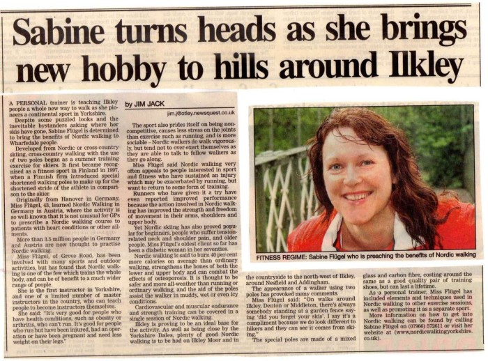 Ilkley Gazette article